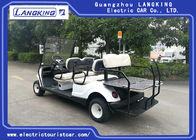 White 6 Passenger Golf Cart With 48V 3KW Motor 6V * 8 PCS Battery / Electric Club Car