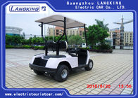 2 Seats White Street Legal Electric Golf Carts 4 Wheel Drive Mobility Scooter 3 Kw Motor Power