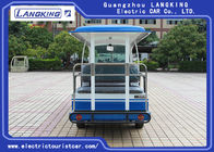 72V 14 Seats Electric Shuttle Vehicles For Multi Passenger 28km/H Max. Speed Balck Seat With Curtain