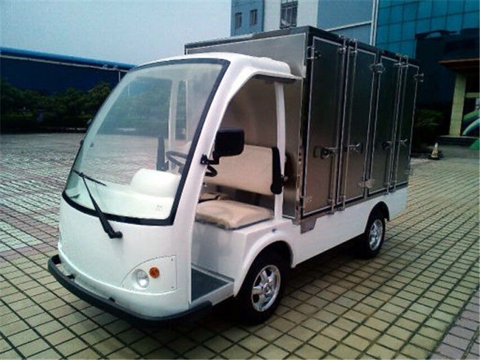 2 Seater Hotel Cart  Orang  Electric Food  Carts Cargo Box  for Factory Park Hotel